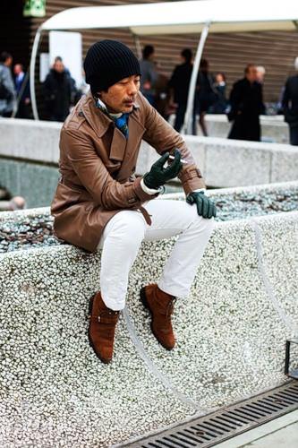 перчатки и шарф для мужчины