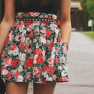 Юбки лето в цветочек