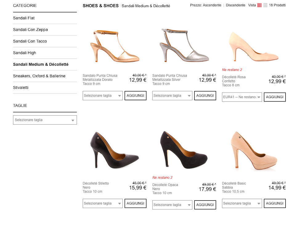 шоппинг в Италии онлайн