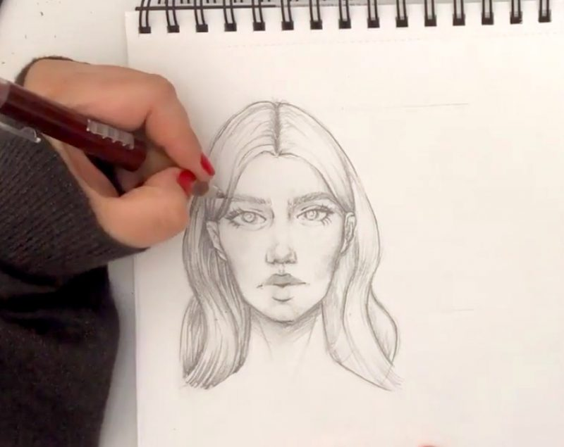 Как рисовать fashion скетчи