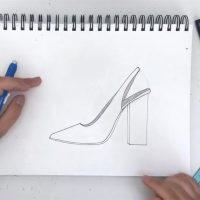Бесплатный видео-урок по fashion-скетчам: учимся рисовать обувь